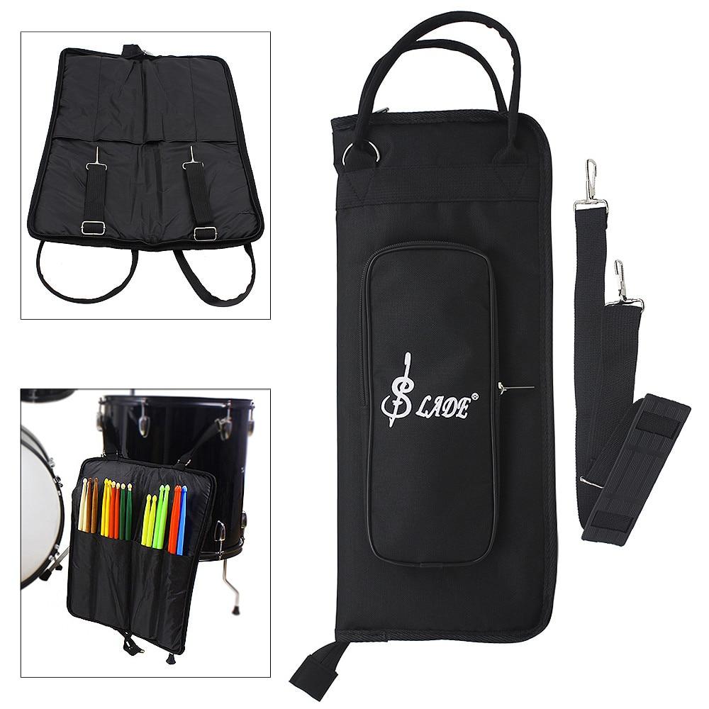 Noir Oxford tissu pilon sac à dos Gig sac Jazz tambour bâton musique livre mallette de rangement support grande capacité sac à main