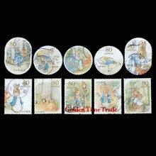 10 pièces/ensemble dessin animé lapin japon utilisé timbres-poste avec marque postale, bon état timbre de Collection personnelle, pas de Repe