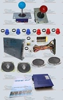 arcade parts bundles kit with game elf 412 in 1 long shaft joystick american style button jamma harness 16a power supply speaker