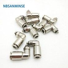 10Pcs/lot MPL M5 1/8 1/4 3/8 1/2 All Metal Pneumatic Fitting Male Elbow Fitting Brass Fitting Air Fitting Connector Sanmin