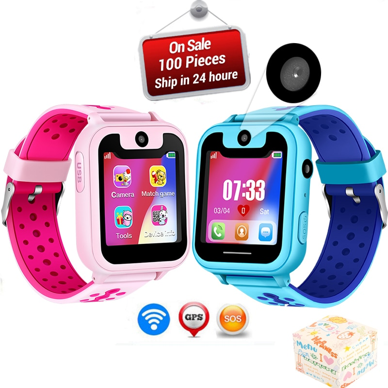 WISHDOIT2019 горячие детские часы для телефона SOS аварийный вызов освещение часы LED цветной экран здоровье и безопасность Дети позиционирование часы
