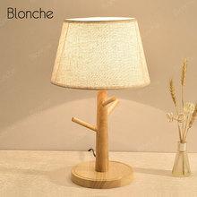 Modern Wooden Table Lamp Nordic LED Stand Desk Light for Living Room Bedroom Bedside Study Lamp Home Decor Lighting Fixtures E27
