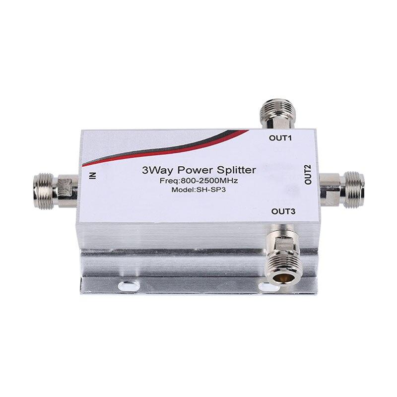 1 pçs novo 800 ~ 2500 mhz n 3-way rf divisor de potência divisor para gsm & cdma & dcs 3g 4g repetidor de sinal de telefone celular