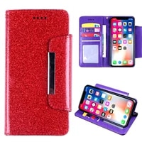 for lenovo k320t s5 k520 wallet case glitter with card pocket kickstand rhinestone diamond cover with lanyard