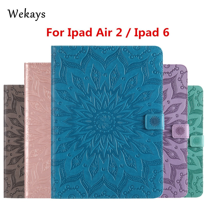wood grain pu leather tablet cover for apple ipad air 1 ipad 5 stand case for ipad air 2 ipad 6 screen protector stylus pen Wekays For Apple IPad Air 2 IPad 6 Sun Flower Leather Smart Fundas Case For Coque IPad Air 2 IPad 6 IPad6 9.7 Tablet Cover Case