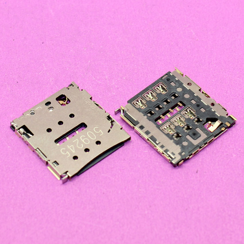 YuXi-Toma de tarjetas Sim para HUAWEI honor P6, P6-C00 P6-U00, P6-T00, MediaPad X1 7D-501u, módulo Lector de ranuras para bandejas de tarjetas de memoria