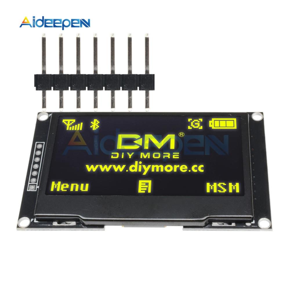 """2.42 """"inch Geel Scherm LCD 128X64 OLED Display Module IIC I2C SPI Seriële SSD1309 128*64 voor Arduino C51 STM32"""