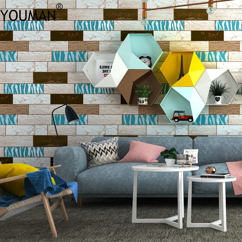 Wallpapers YOUMAN Brick Wallpaper For Walls 3d Rustic Vintage Faux Roll Vinyl Interior Home Decor Wall Paper