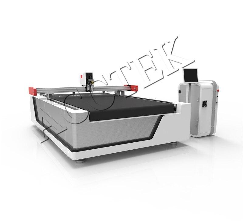 Acctek tejido de punto/tela tejida/tela oxford con cuchillo vibrador y cuchillo redondo cuchillo recto máquina de corte de tela