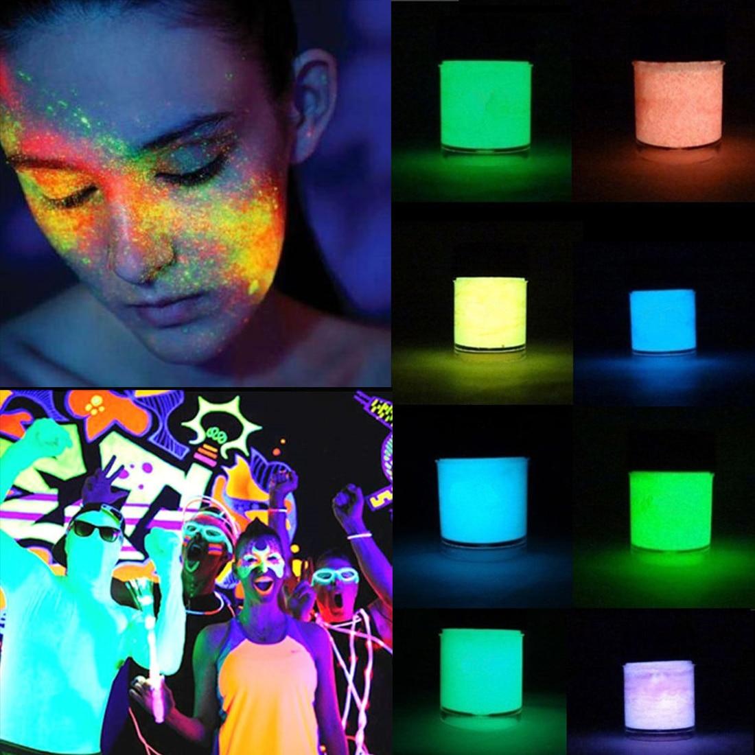 Pintura acrílica no tóxica, sin olores, luminosa, pigmento fluorescente para arte corporal, fiesta nocturna, brillo, pintura de grafiti