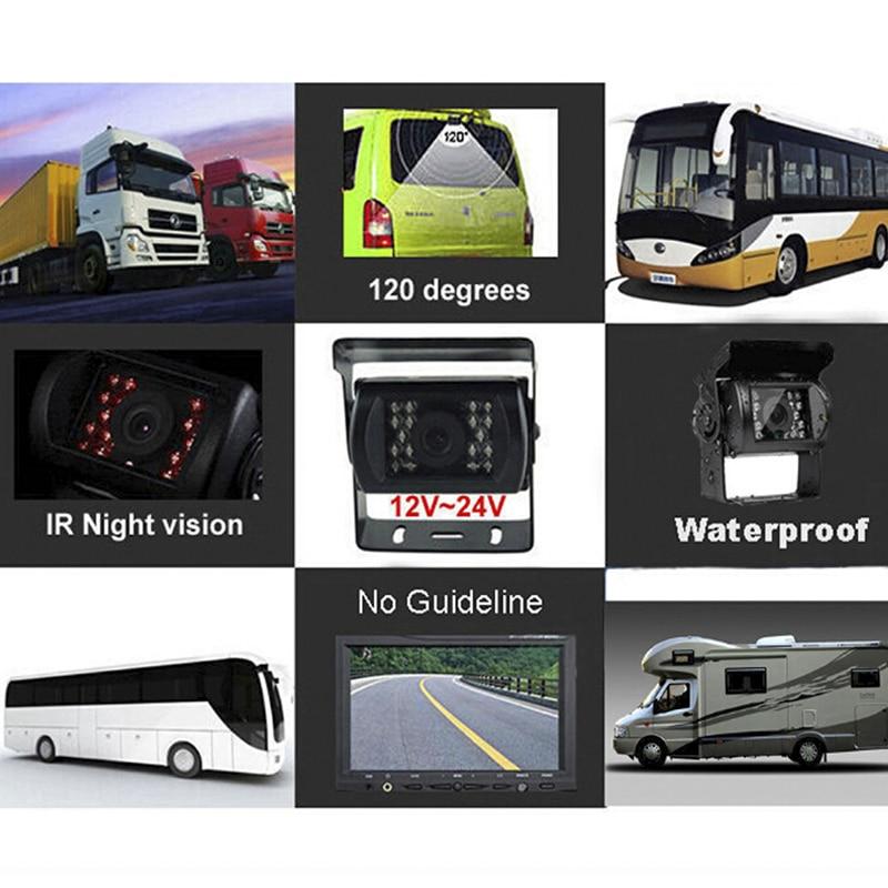 Cámara de respaldo de visión nocturna LED para coche y Monitor de pantalla plegable de alta calidad