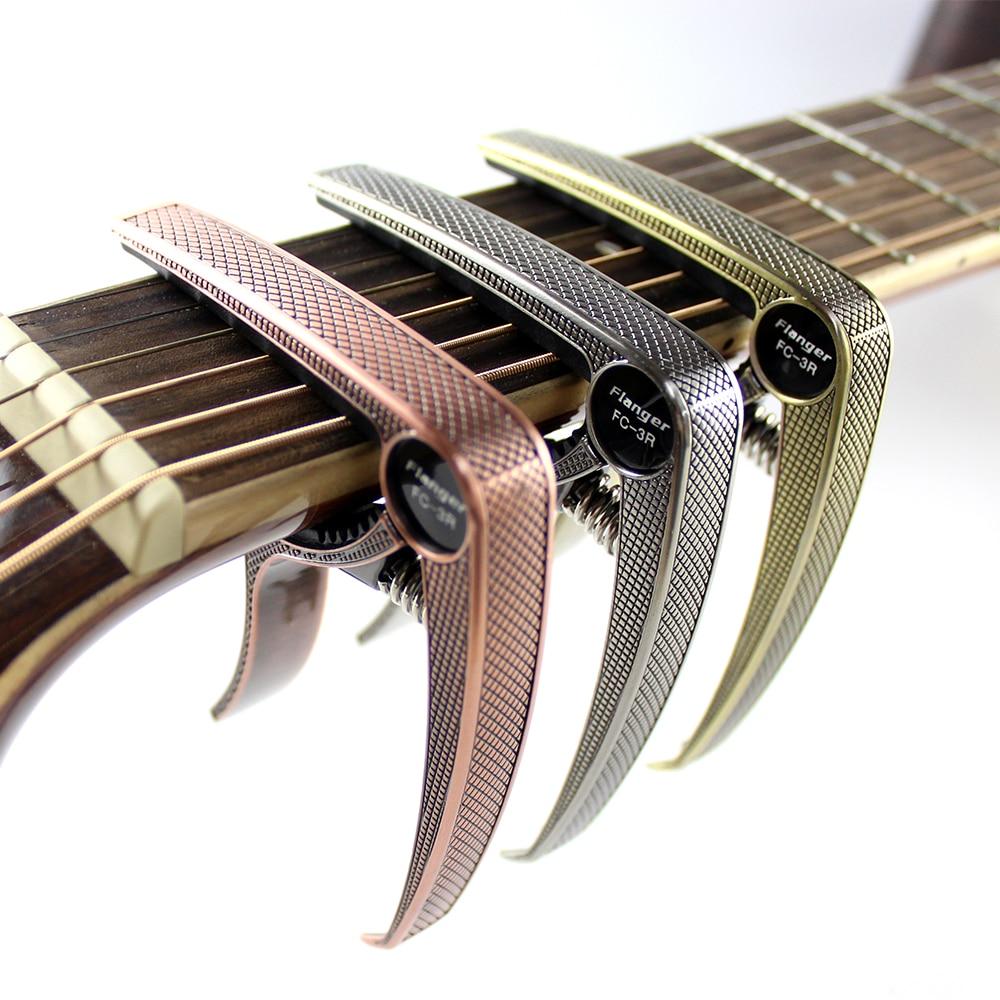 Flanger guitarra Capo resorte operado Capo Deluxe y más rápido de usar para guitarra acústica. FC-3R