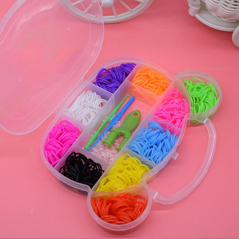 600pcs Diy toys rubber bands loom bracelet for kids hair band refill make woven bracelets DIY girl baby boy toy 2019 new gift
