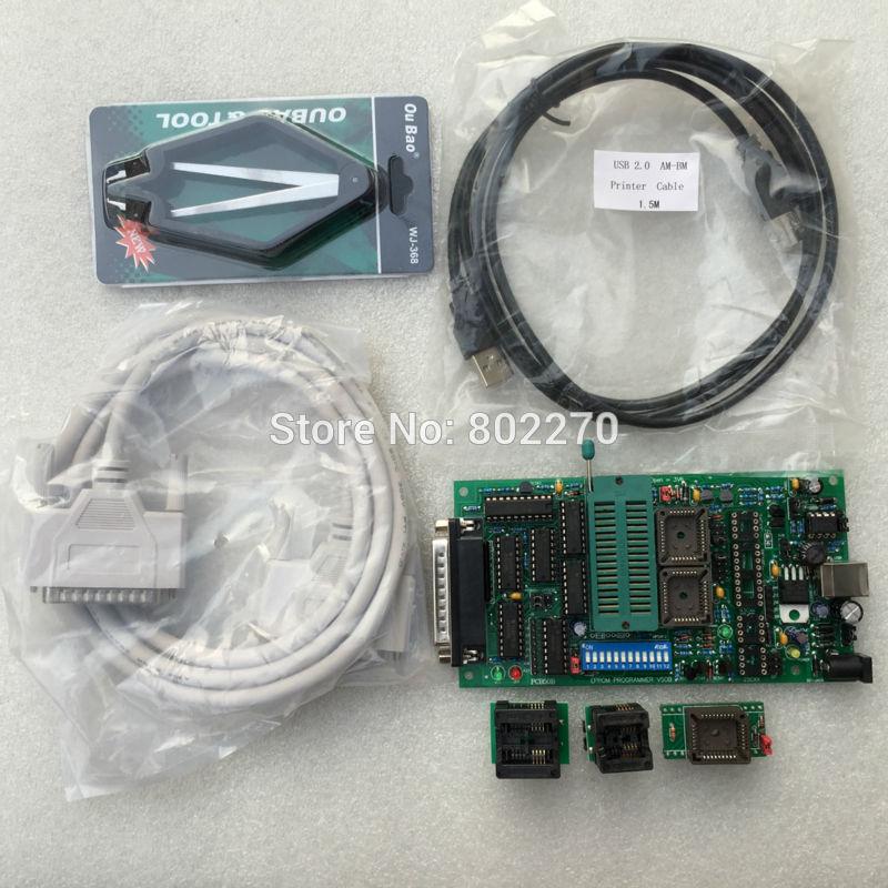 جديد EPROM بوا PIC univeral ويليم مبرمج PCB5.0B USB بالطاقة تشمل SOP8 محول و DIP28-PLCC32 محول