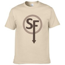 Nova moda masculina camisa de manga curta t camisa de manga curta rosto sally t a290
