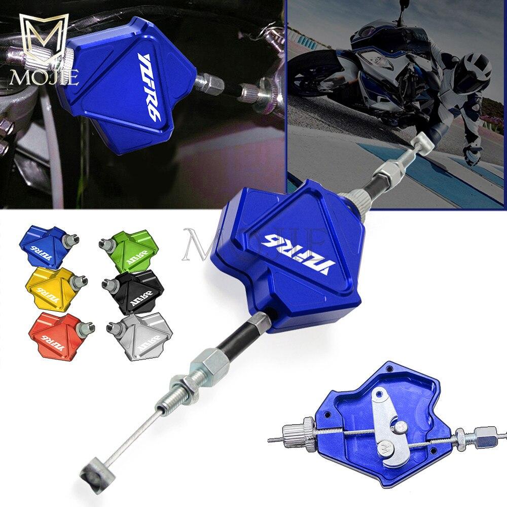 Motocicleta CNC palanca de embrague para acrobacias sistema de Cable de tracción fácil para Yamaha YZF R6 YZF-R6 YZFR6 1999-2018, 2000, 2001, 2002, 2003, 2004, 2005