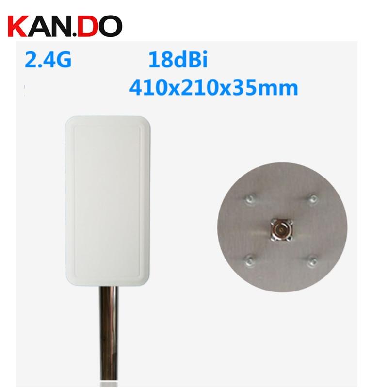 ISM 2,4G 18dbi N-K, conector 2,4 GHz, antena wifi, panel de 2,4G, antena inalámbrica de transmisión de imagen, antena 2400-2500mhz N hembra