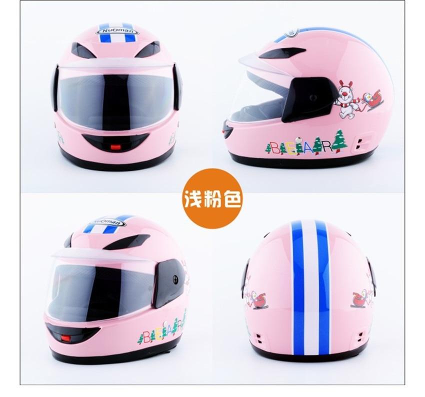 Pink Children's Motorcycle Helmets Motorbike Scooter Full Helmet  Girls Kids Cute Child Safety Head Hat Baby Cartoon Helmet enlarge