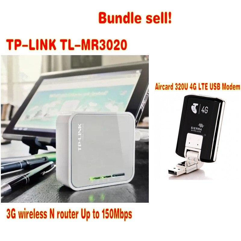 Odblokowany Sierra Aircard 320U 4G LTE modem usb plus tp-link MR3020 pakiet sprzedaży