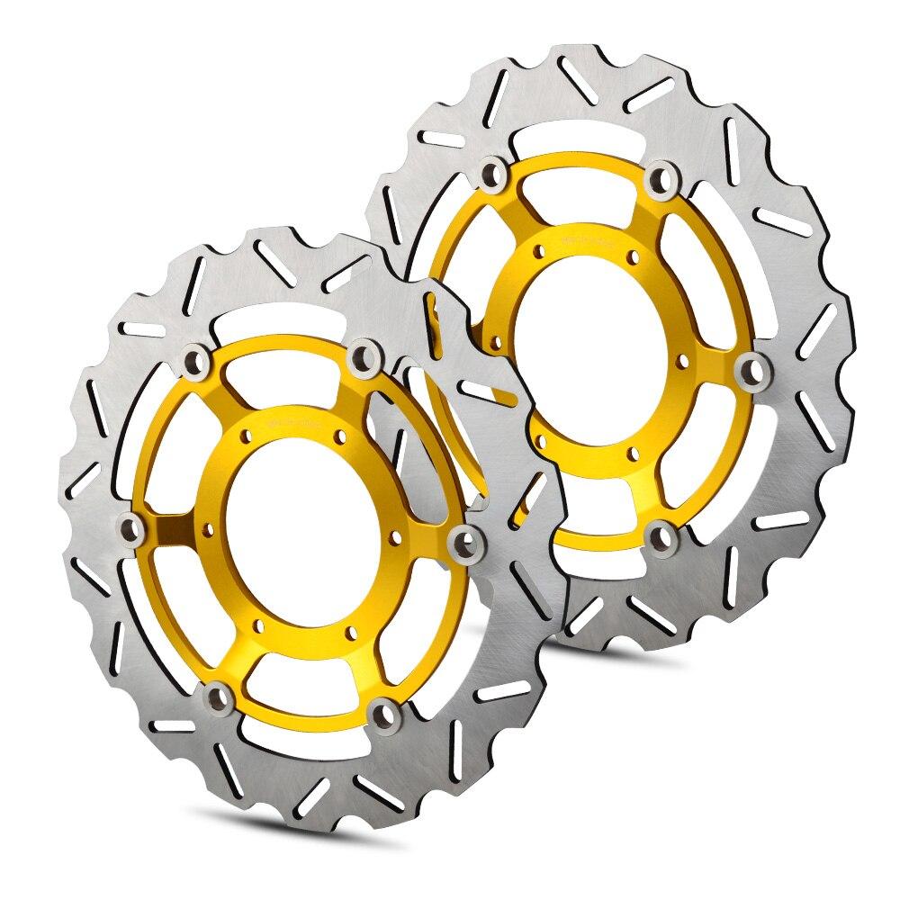 2 шт. 296 мм ротор дисковых передних тормозов для Honda CBR600F CBR 600F 600 F Sport CB900F CB 900F 900 F Hornet из нержавеющей стали