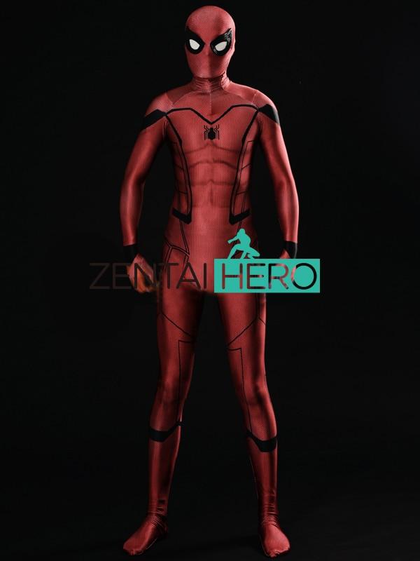 ZentaiHero nueva impresión 3D Kaine Homecoming traje de Spider-Man Kaine Spiderman traje Spandex superhéroe Cosplay body 17061404