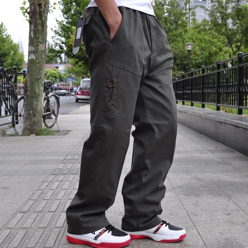 2019 New Cotton Men's Cargo Pants Casual Loose Mens Pant Multi Pocket Military Long Trousers Men High Quality Plus size 6XL