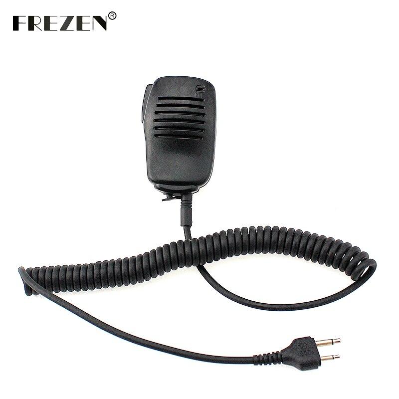 Mini altavoz portátil micrófono PTT para Icom Radio de dos vías IC-F3 SL25 V80 para Cobra Walkie Talkie HH37ST FRS90