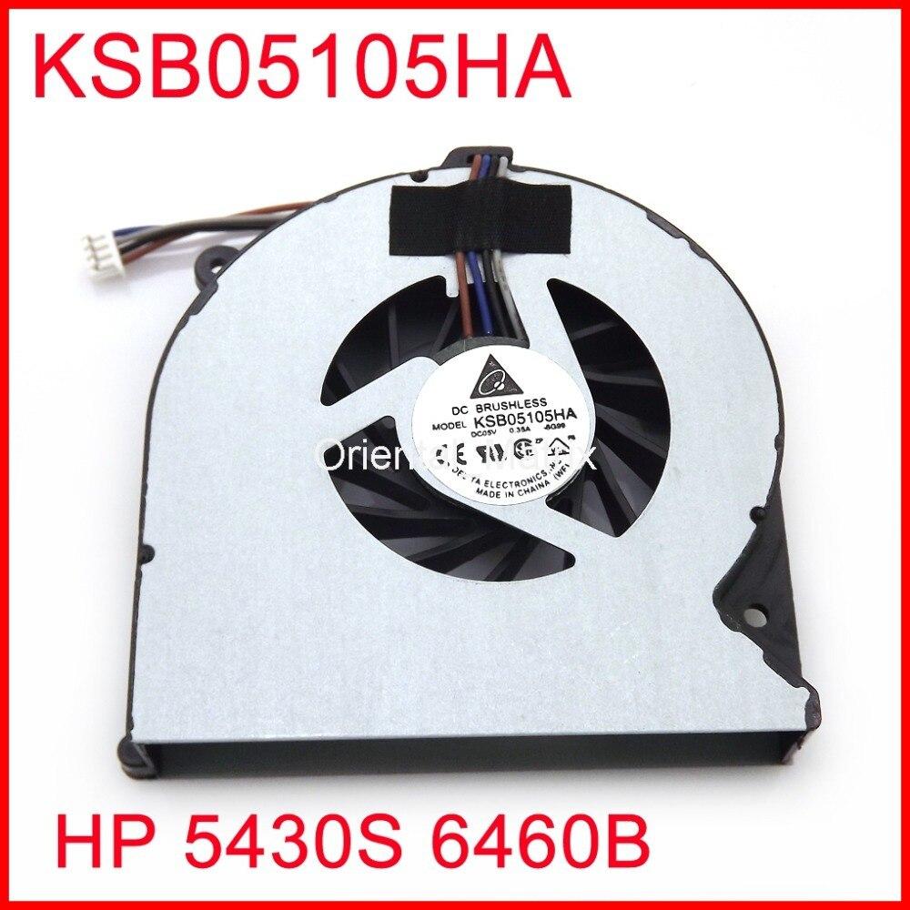 Original novo dc5v 0.35a ksb05105ha para hp 5430 s 6460b 8460 p laptop ventilador de refrigeração da cpu