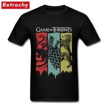 80 S Vintage mode jeu de trônes T Shirt fan film maison Stark Tee Shirt Targaryen lannister T-shirt Homme manches courtes Tee
