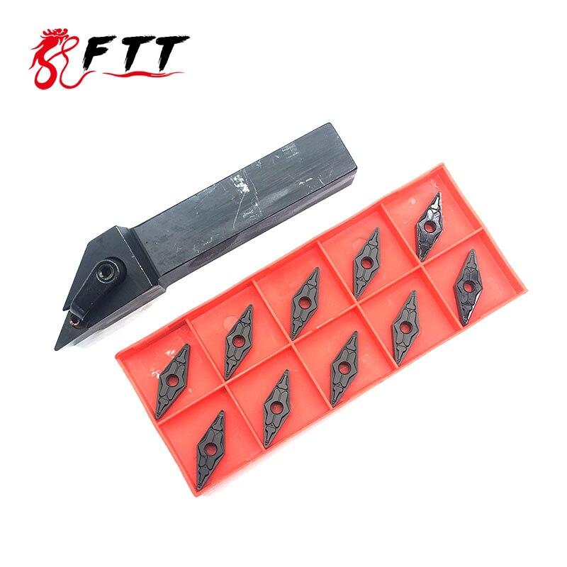 1PC MVJNR1616K16 MVJNR2020K16 Turning holder +10PCS VNMG160408 TM PC4125 high quality carbide insert turning tools