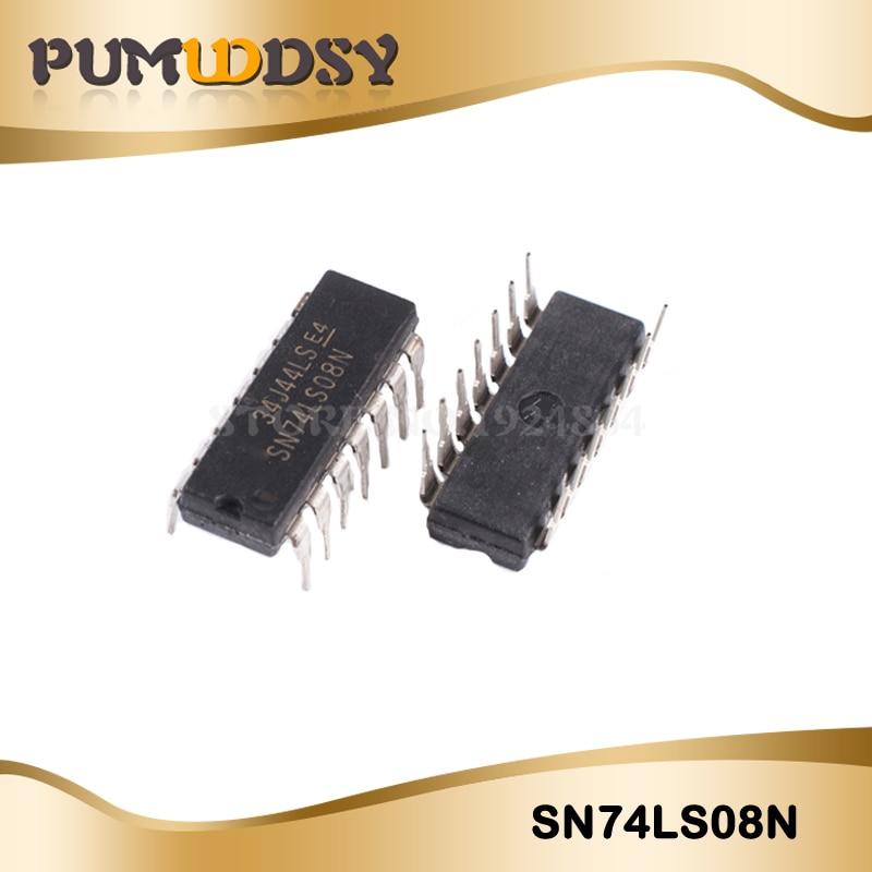 10 unids/lote SN74LS08N SN74LS08 HD74LS08P 74LS08 DIP14 original nuevo envío gratuito IC