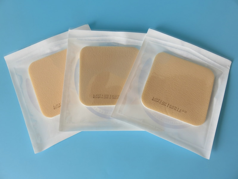 5 шт. медицинский пенопласт, несклеевой пенопласт, медицинский перевязочный материал 10x10 см