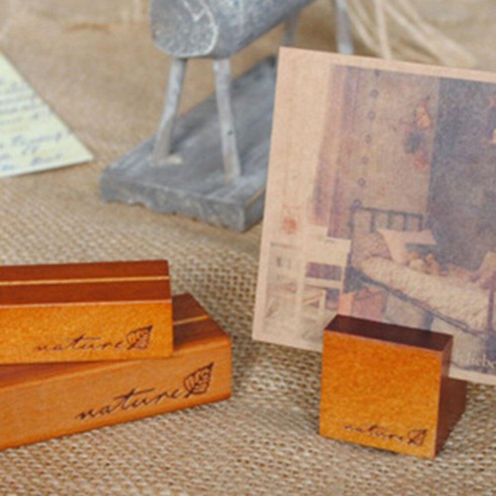 2 шт. корейские канцелярские товары оптом ретро оригинальные деревянные держатели сообщений стенды Примечания блок фото карты папки Сообще...