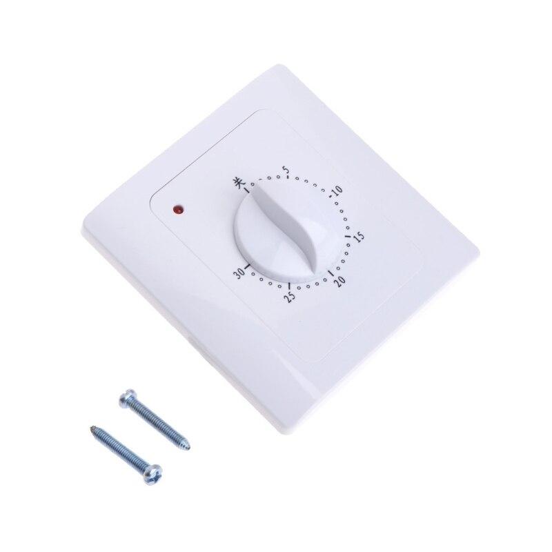 AC 220 V 10A 30 dakika geri sayım sayacı anahtarı elektrik dijital zaman fiş kontrol düğmesi