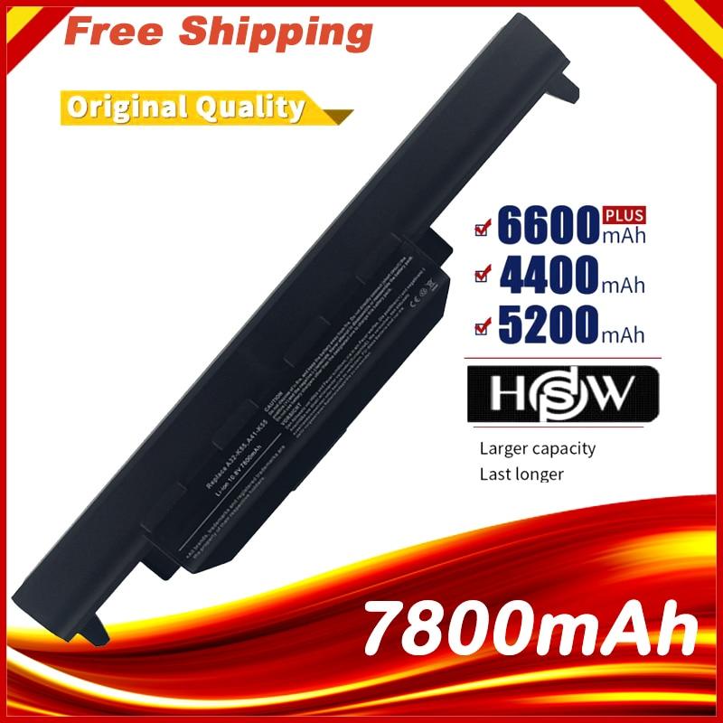 7800MAH aptop batería para Asus A32-K55 X55U X55C X55A X55V X55VDX75V X75VD X45VD X45V X45U X45C X45A U57VM U57A U57V U57VD R700V