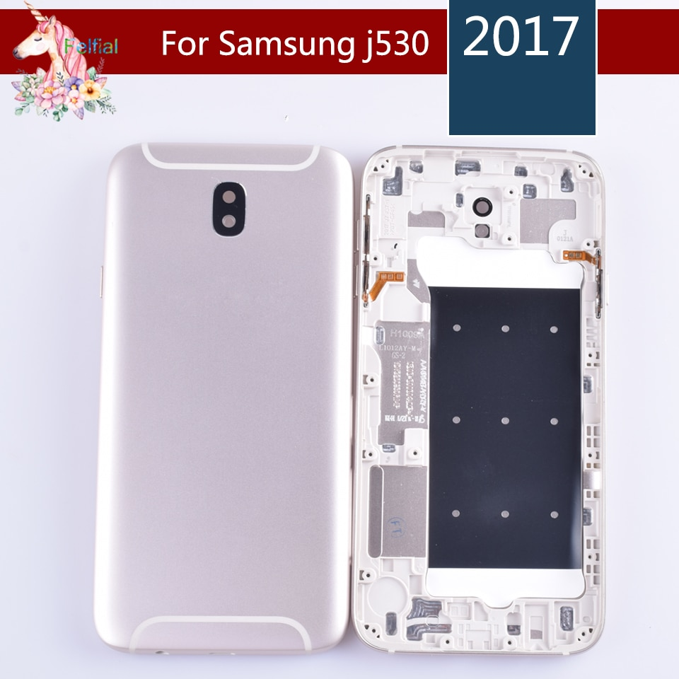 10pcs/lot For Samsung Galaxy J5 2017 J530 J530F Housing Battery Cover Door Rear Chassis Back Case Housing Replacement enlarge