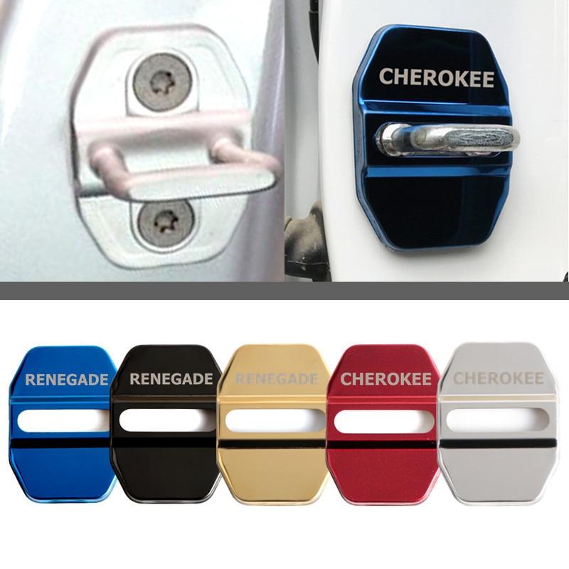 Carro-Styling Caso Cobertura Da Fechadura Da Porta Auto Emblemas Do Carro Para Jeep renegado 2016 2017 2018 Acessórios Do Carro cherokee xj styling