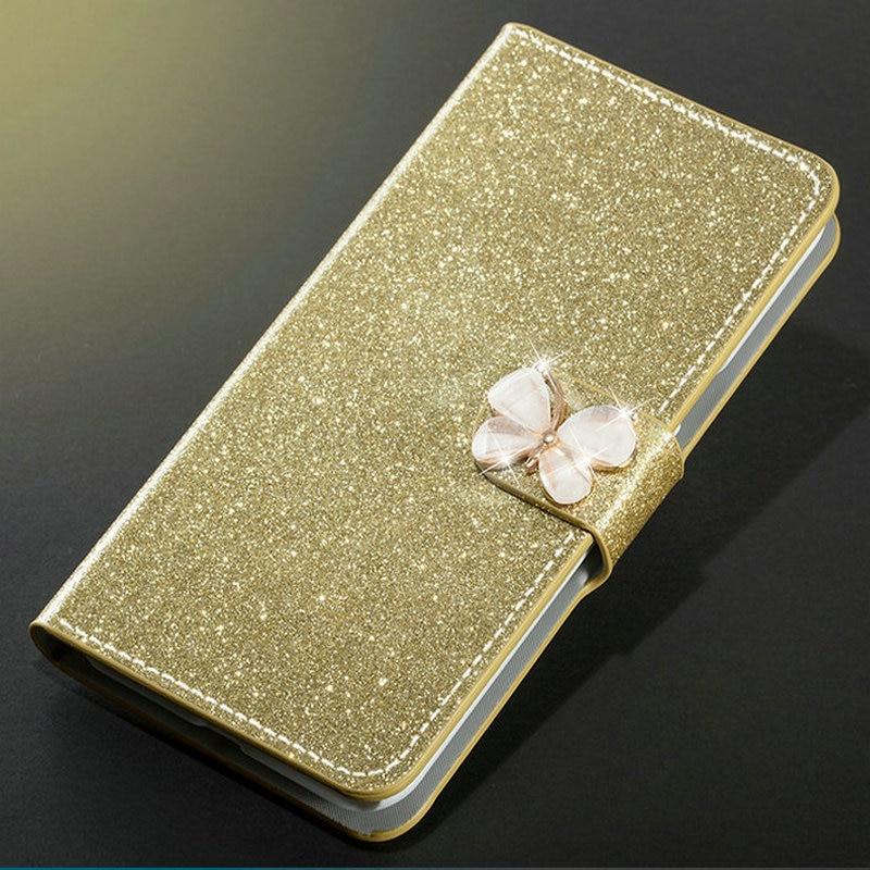 Luxury Fashion Sparkling Case For Asus ZenFone 5z ZS620KL/Zenfone 5 ZE620KL Cover Flip Book Wallet Design