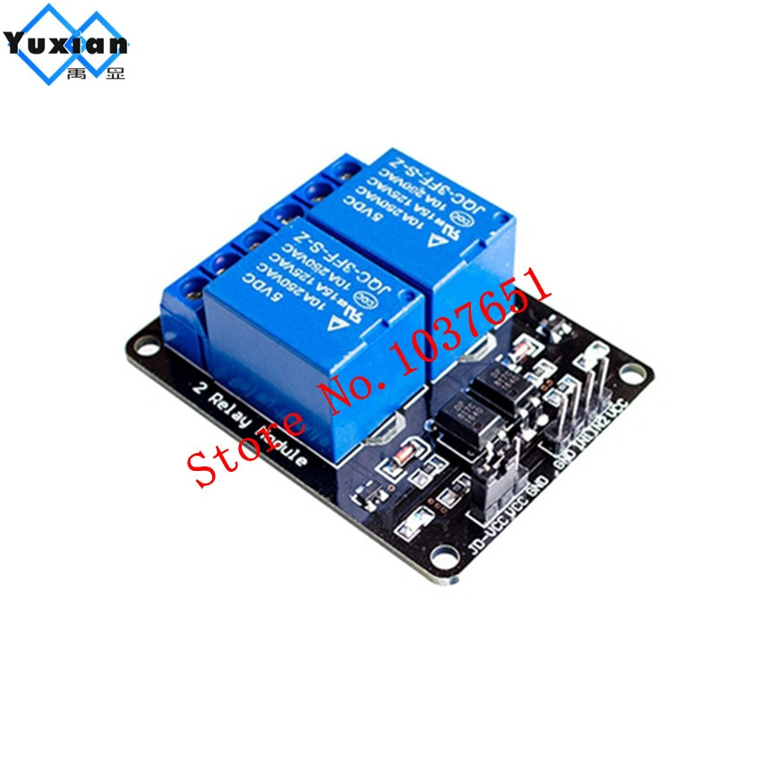 Aliexpress - 5V 2-Channel Relay Module with Optocoupler