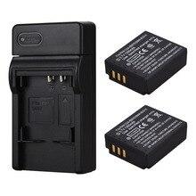 2x1300 mAh Batteries CGA-S007 CGR-S007E batterie Rechargeable Li ion pour Panasonic Lumix DMC TZ1 TZ2 TZ3 TZ4 TZ5 TZ50 TZ15