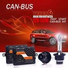 BAICISU D2S EMC Canbus D2R HID Комплект быстрой яркости 55 Вт ксеноновая лампа H1 H7 H11 9012/HIR2 d4s H4 Биксеноновая лампа для фар 6000K