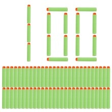 100pcs 8colors Soft Bullet Head Foam Bullets for Nerf N-strike Elite Series 7.2cm*1.3cm