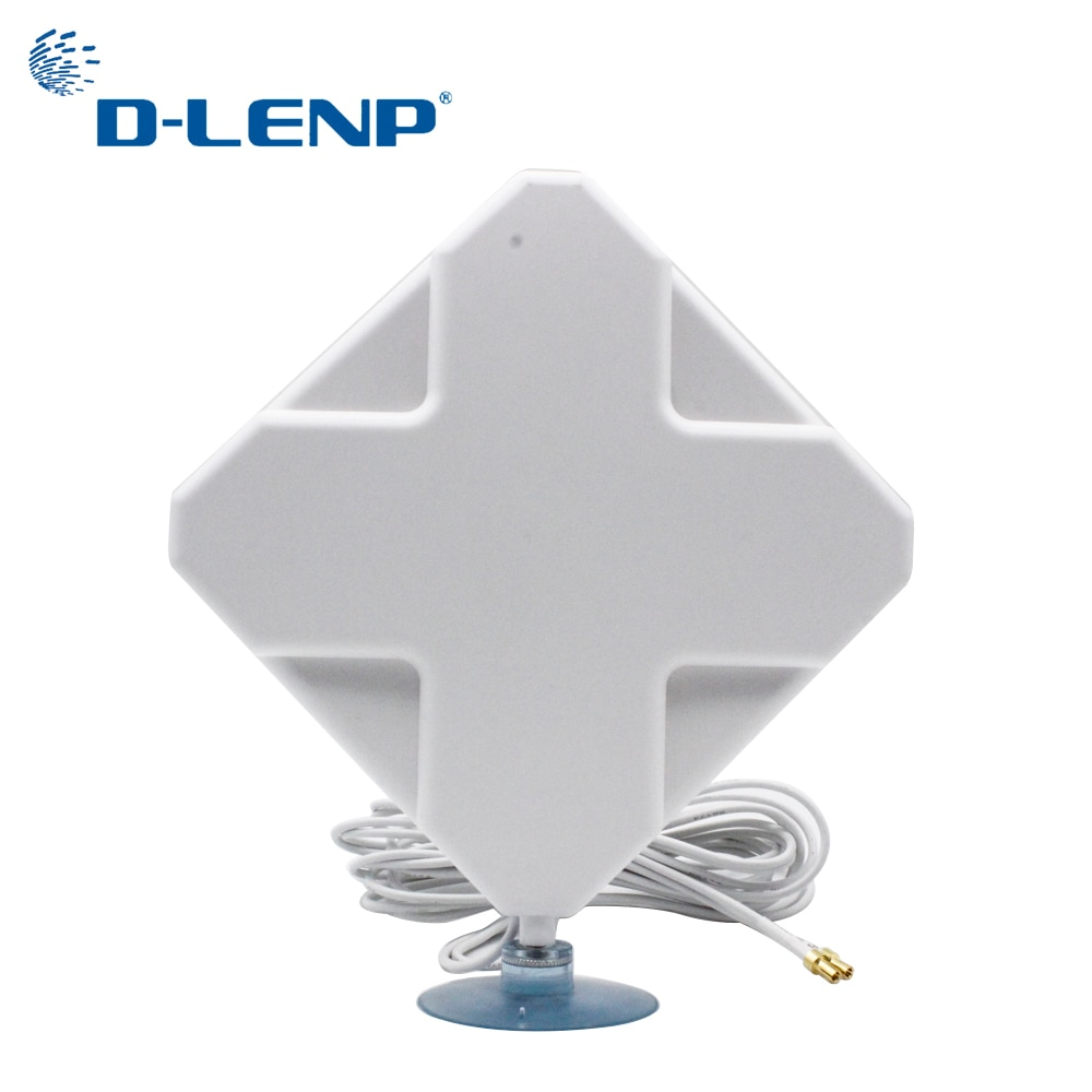 lson w425 4g ts9 network antenna adapter white cable 2m 4G Mimo Antennas With Ts9 35dBi Gain 4G Antenna 2-TS9 Connector for 4G Modem Router Antenna with 2M Cable Signal Amplifier