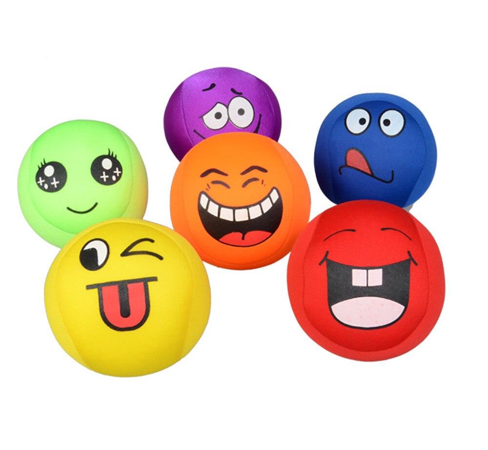 Super Elástico Bola de Stress Sorriso Todos os tipos de expressões Rosto Aperto Brinquedo Divertido e interessante de handebol A621