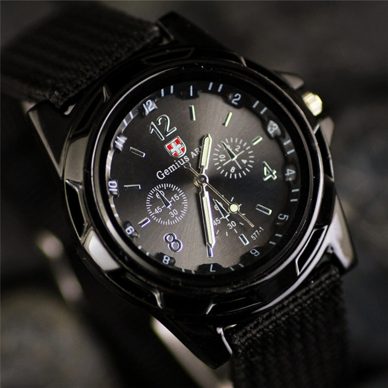 brand canvas casual New Famous Brand Casual Men Army Military Watch Canvas Strap Soldier Quartz Men's Sports Wristwatches Clock relogio masculino