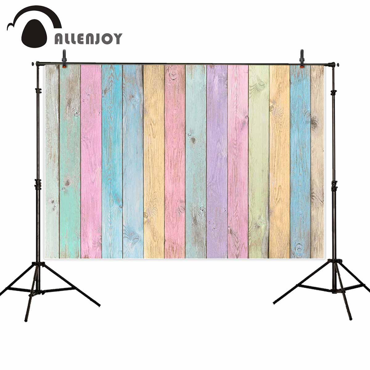 Allenjoy thin vinyl cloth newborn photography wood pastel vintage fence grunge natural texture aged backdrop for photo studio