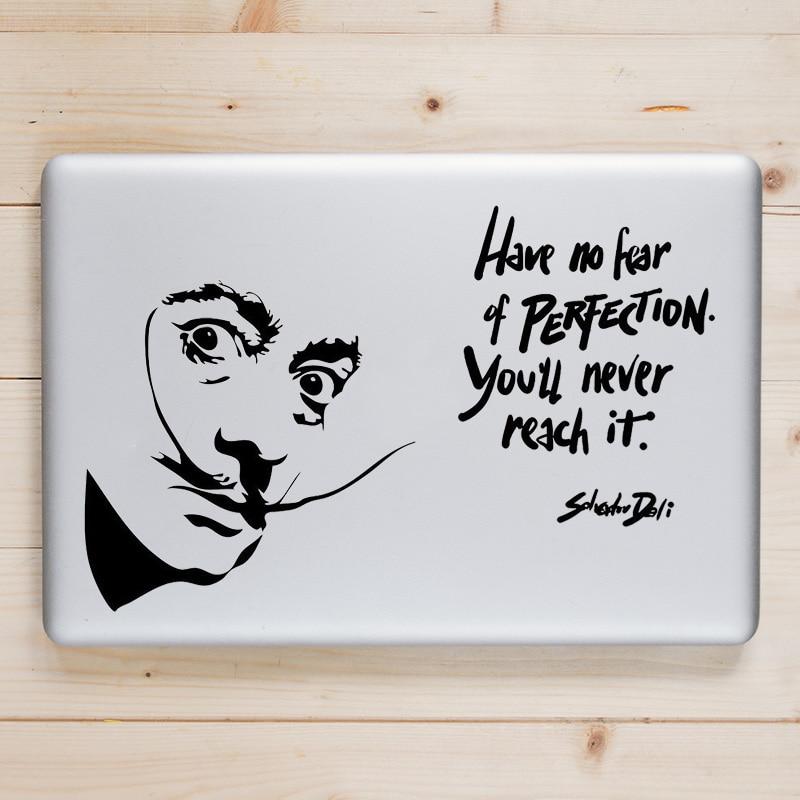 Salvador Dali Цитата переводная наклейка для ноутбука Macbook Наклейка Pro Air Retina 11 12 13 15 дюймов Dell Mac поверхность книга кожа блокнот наклейка
