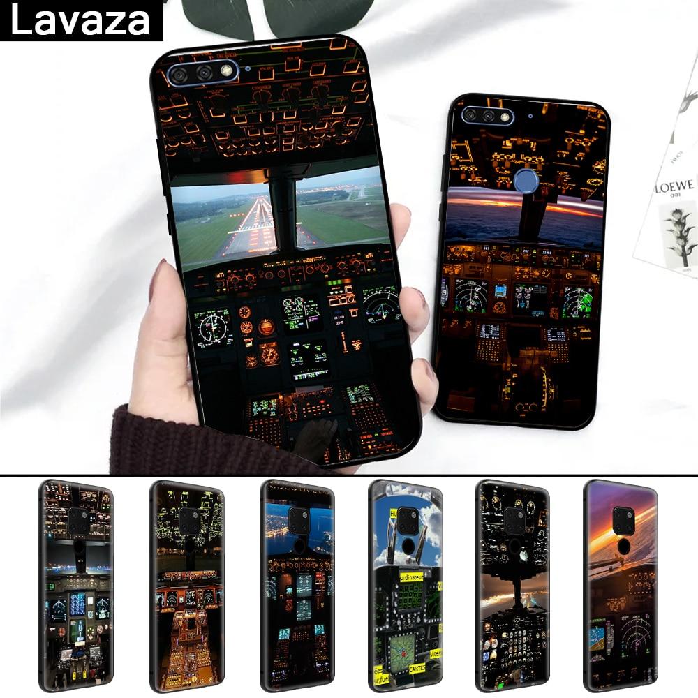 Lavaza Aircraft Airplane Cockpit Fashionable Silicone Case for Huawei Mate 10 Pro 20 Lite Nova 3 3i Y6 Y5 Y9 Y7 2017 Prime 2018