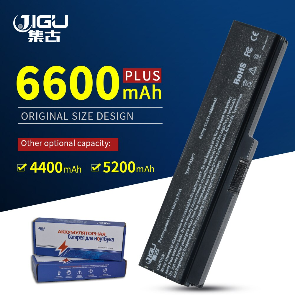 JIGU batería para TOSHIBA Satellite L750 L650 PA3816U-1BRS PA3817U PA3817U-1BAS PA3817U-1BRS PA3818U-1BRS PA3819U-1BRS