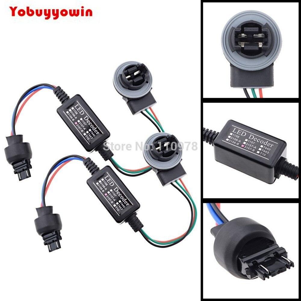 10 pces 3156 3157a 3157b resistor de carga para o cancelamento livre de erros canbus diodo emissor de luz decodificador anti-cintilação para veículos europeus